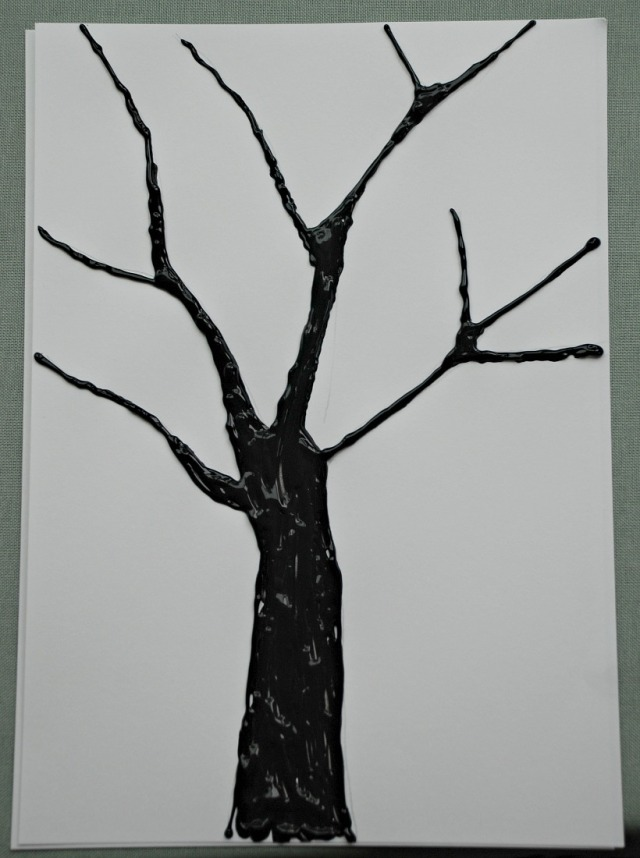 Dimensional Paint Tree outline for watercolour paiting