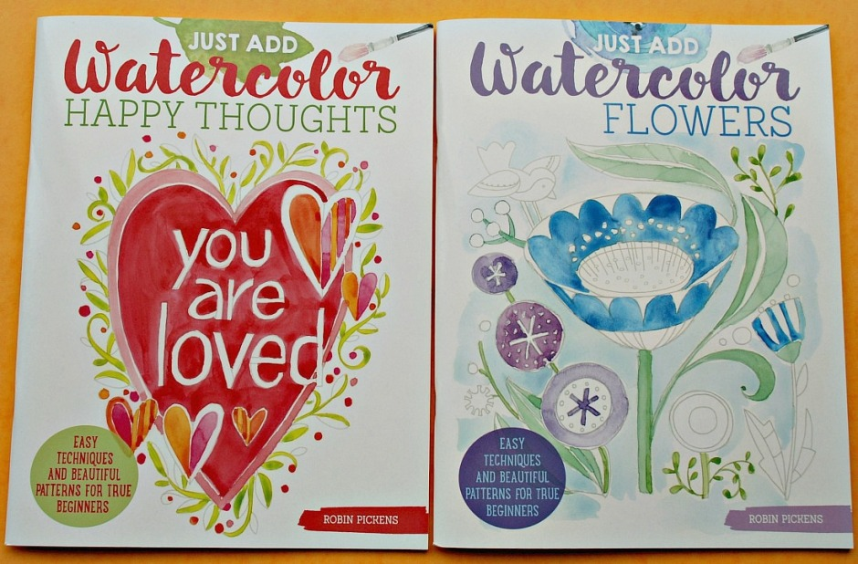 Just Add Watercolour books by Robin Pickens. Perfect to use at home for watercolour lessons with kids