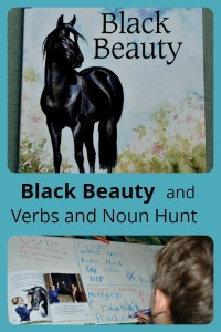 Using the children's reader Black Beauty for a Verb, Noun, Adverb and Adjecctive hunt