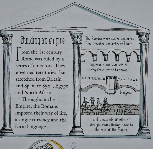 Usborne's A Short History of the World. Building an enpire. Ancient Rome
