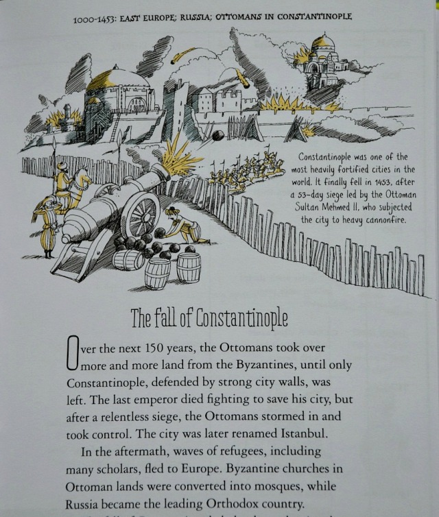 Usborne's A Short History of the World. The fall of Constantinople