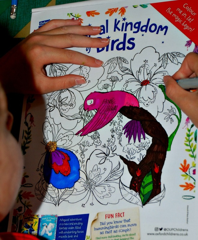 Free to download the Magical Kingdom of Birds colouring page