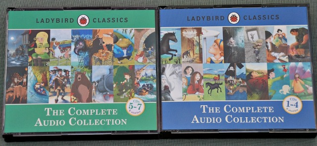 Ladybird Classics the Aomplete Audio Collection. Lots of classic stories perfect for kids to listen to in the car
