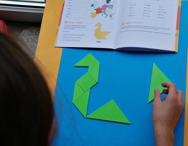 Lucky Gecko Summer Box, a tangram challenge