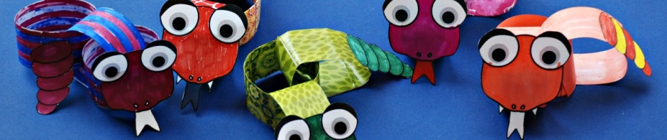 Snake paper Chain craft activity from Twinkl Resources