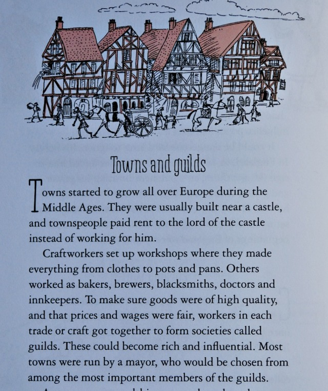 A Short History of the World by Usborne. Towns and Guilds start developing