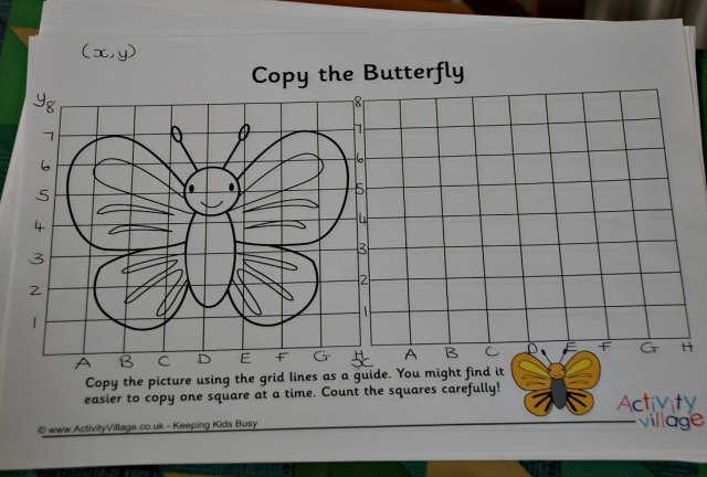 Using Grid copy pictures to practice co-ordinates