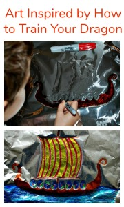 Art Activity Inspired after reading the How to Train Your Dragon books.  Viking Art.  Tinfoil art activity