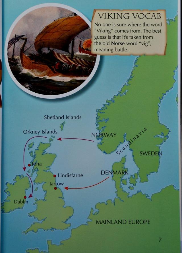 Collins BIG CAT inform reader. Vikings in Britain. Primary aged children