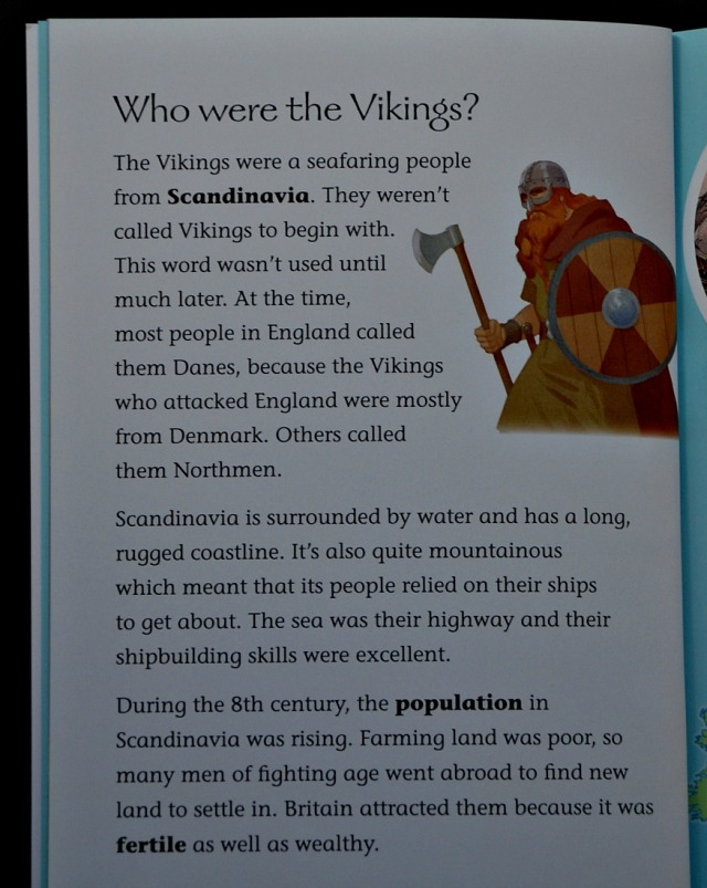 Collins BIG Cat inform reader. Vikings in Britain. Who were the Vikings. Viking non-fiction for primary aged children