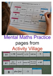 Mental Maths Practice Pages from the Activity Village website