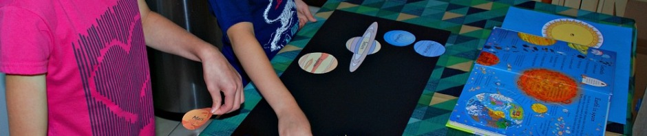 Making a poster showing the planets orbiting around the Sun using images from Activity Village