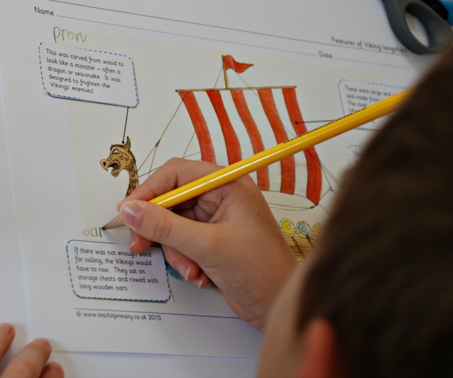 Teachit primary website. Free to download Features of a Viking Longboat activity