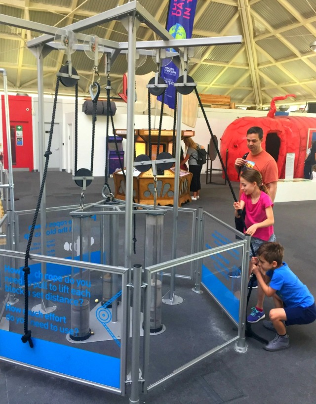 Winchester Science Centre trying out the pulley activity