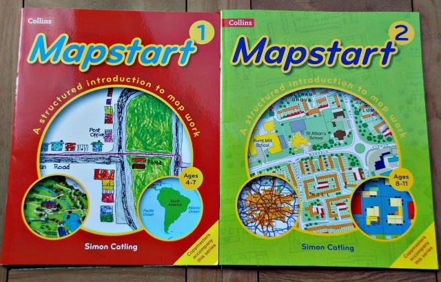 Collins Mapstart Primary books. Mapwork for primary aged children