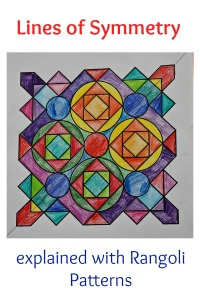 Lines of Symmetry explained used Rangoli Pattern colouring pages. Pages from Twinkl Resources