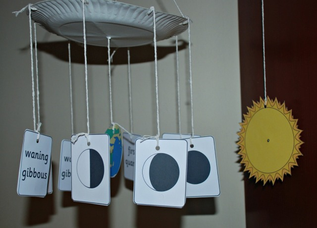 Phases of the Moon visual aid. Perfect for a learning at home activity. Home education