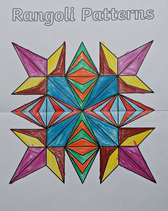 Rangoli Patterns line of symmetry picture