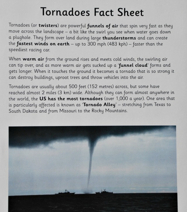 Tornado Fact Sheet from Activity Village