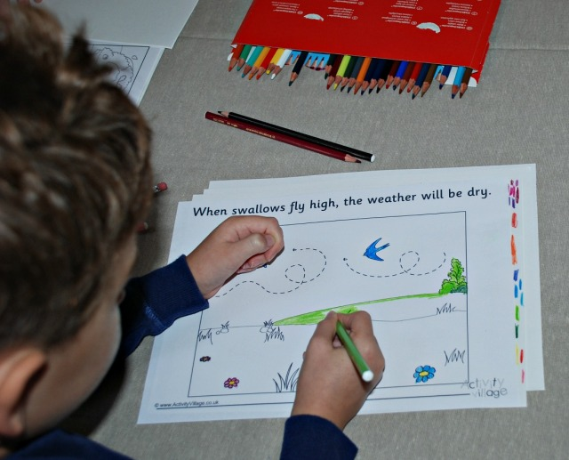 Weather Myth Colouring page from Activity Village
