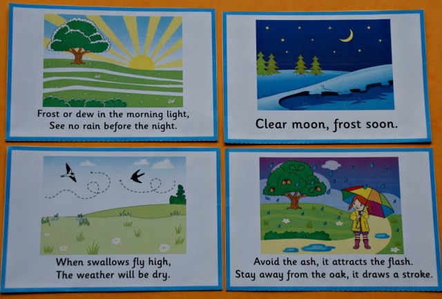 Weather Myth flashcards from Activity Village