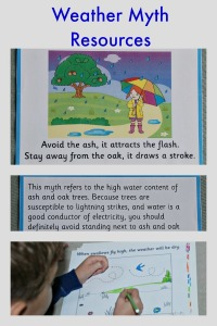 Weather Myth Resources from Activity Village.  Flashcards, colouring, writing, copywork