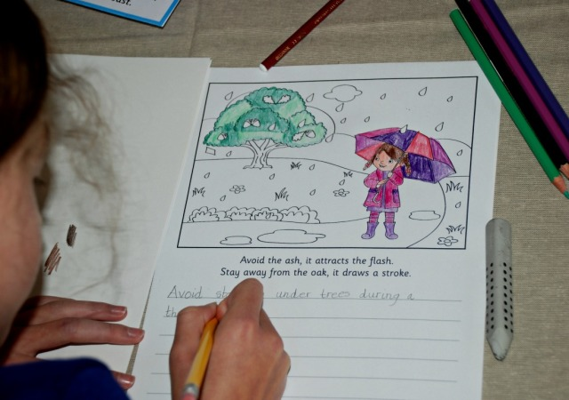 Weather Myth writing pages from Activity Village