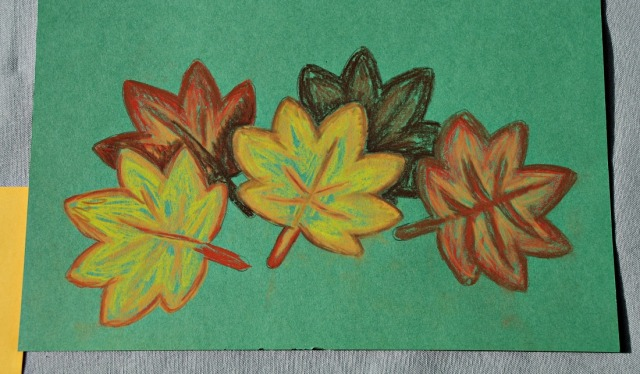 Autumn Leaves created using STABILO chalk pastels
