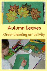 Autumn Leaves the perfect blending colour art activity for children
