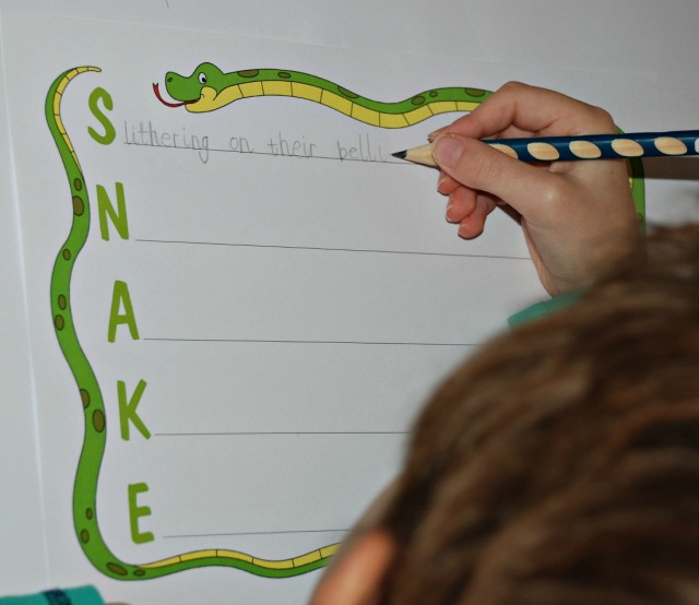 Snake Acrostic Poem from Activity Village