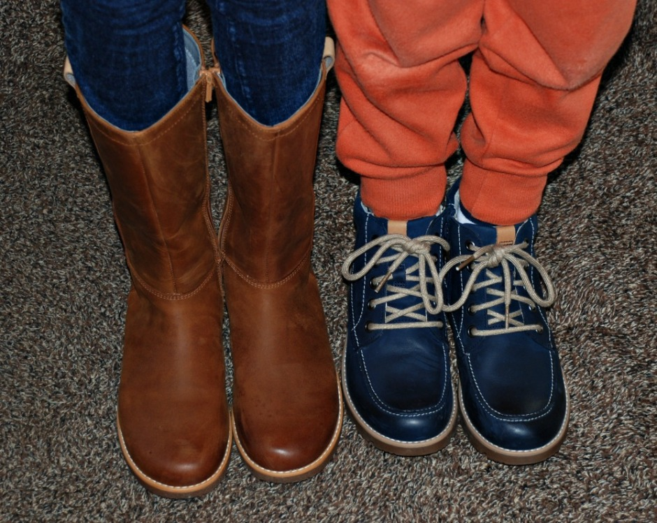 Winter shoe shopping for sensory kids