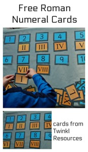 Free to download Roman Numeral Cards from Twinkl Resources