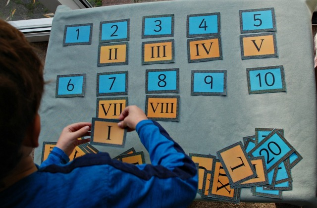 Free to download Roman Numeral matching Cards from Twinkl Resources