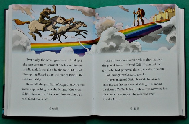 Inside page from Usborne Illustrated Norse Myth book
