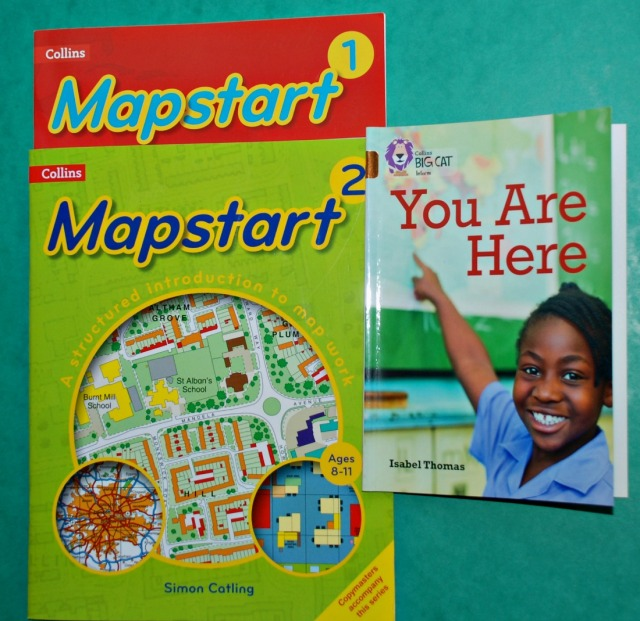 Collins Mapstart and You Are Here books. Both give examples of different types of maps