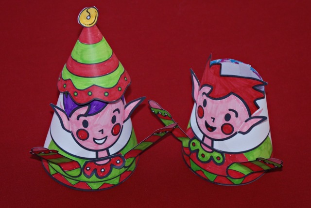 Mrs Mactivity Christmas elves part of the Christmas cone toy set.