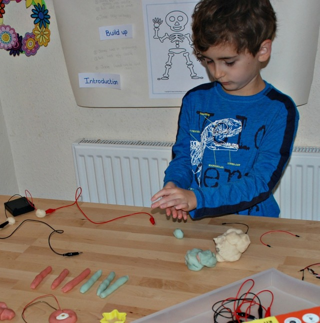 Playing with the conductive dough