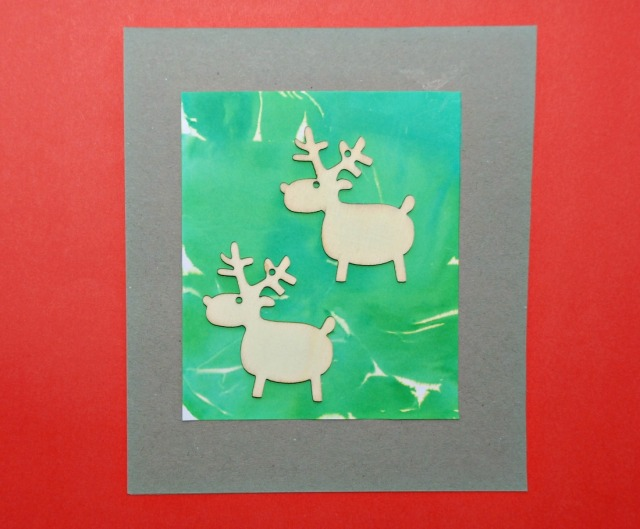 Reindeer Christmas Cards made using ornaments from Tiger UK