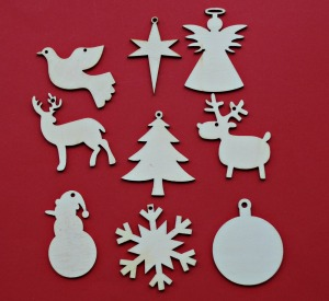 The Tiger Christmas ornaments that you can buy instore and decorate yourself