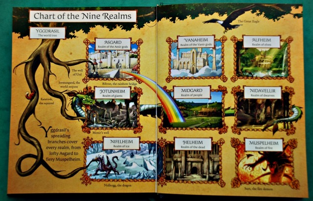 Usborne Norse Myths. The Chart of the Nine Realms
