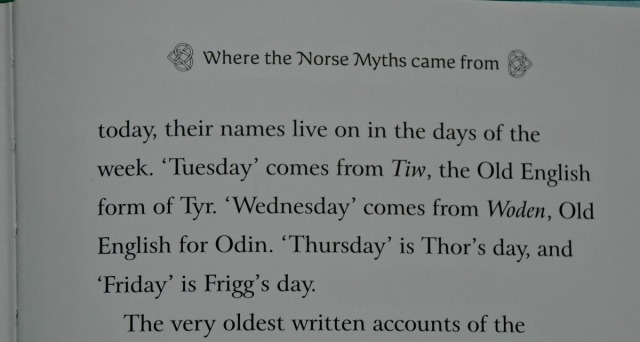 Days of the Week are based on some of the Norse Mythology characters
