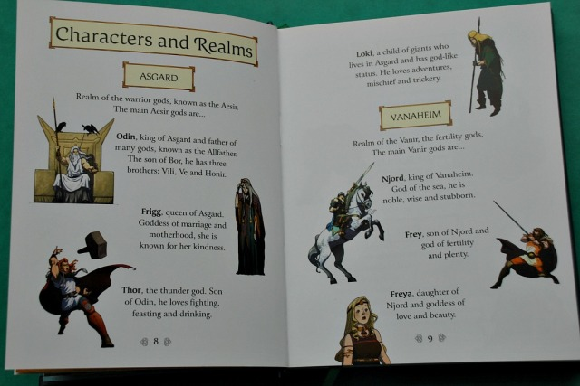 Usborne Illustrated Norse Myths. Includes a section explaining the main characters and the Nine Realms