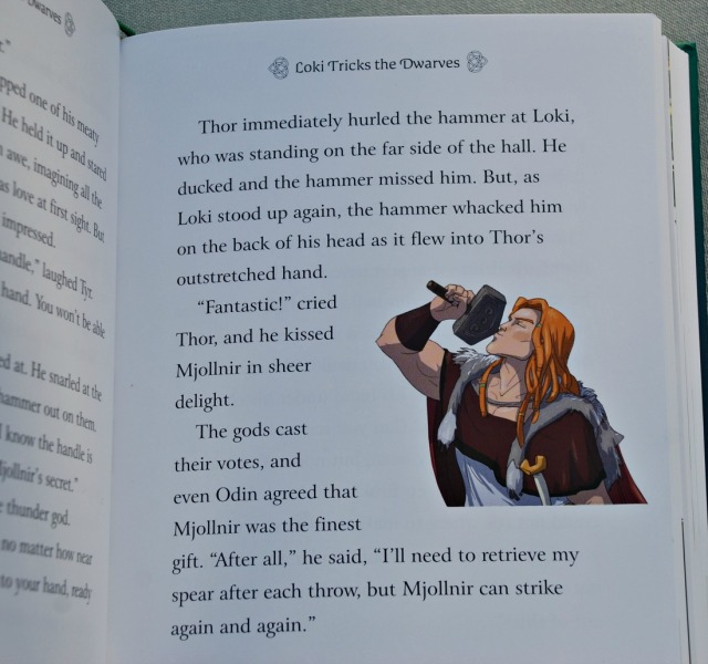 Usborne Illustrated Norse Myths. Loki Tricks the Dwarves