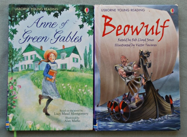 Usborne Young Reading Series. Anne of Green Gables and Beowulf
