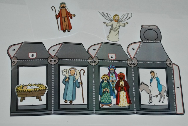 adding some of the Nativity Story Stone images to the 3D lanterns from Twinkl Resources