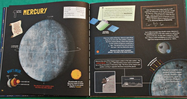 Discover Our Solar System. Each planet has a 2 page spread filled with facts