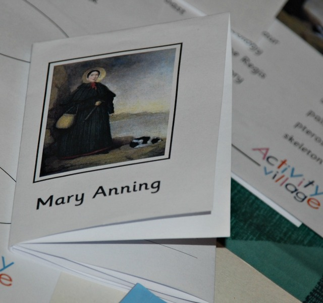 Mary Anning booklet from Activity Village