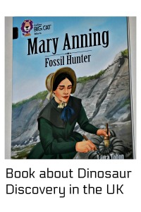 Mary Anning Fossil Hunter.  A story about dinosaur discovery in the UK