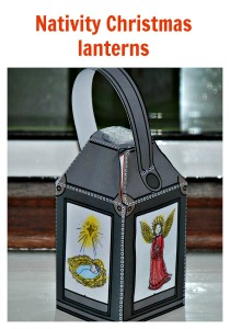 Nativity Christmas lanterns from Twinkl Resources