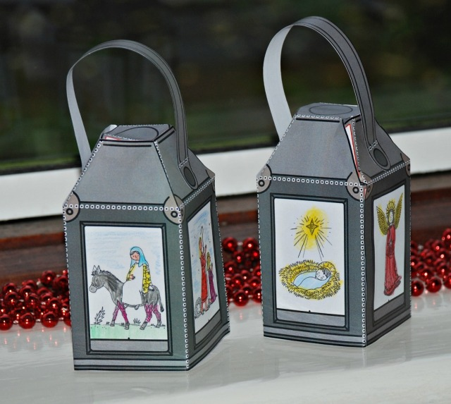 Twinkl Resources Nativity colouring in Lanterns. Christmas Activity for kids